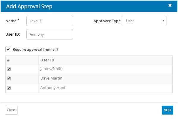 Configure approval steps for high risk access