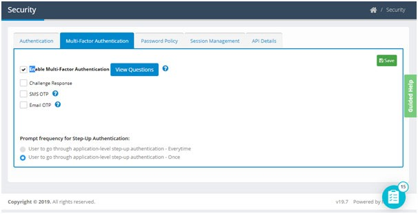 Steps to set up multiple authentication mechanism factors (MFA) available in Compact Identity