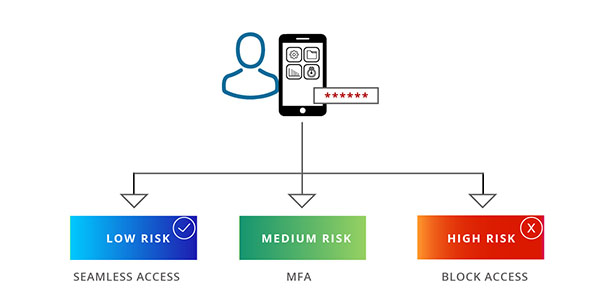 Risk based authentication flow